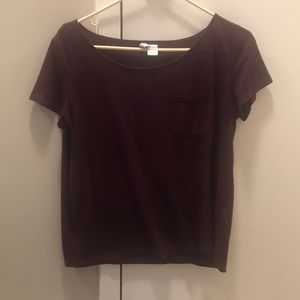 Divided Tops - Divided Burgundy/Purple T-shirt